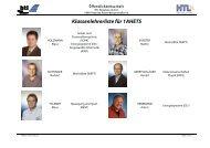 Klassenlehrerliste für 1AHETS - HTL Braunau