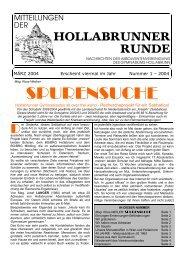 Mitteilungen der Hollabrunner Runde 1-2004