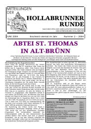 ABTEI ST. THOMAS IN ALT-BRÜNN - HTL Hollabrunn