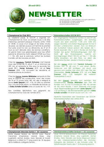 08.2013 - Golf und Country Club Wallenried