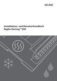 Steuergerät Installationsanleitung und Handbuch - HTS System AG