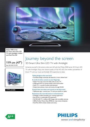 47PFL5038K/12 Philips 3D Smart Ultra Slim LED TV ... - 1000 Ordi