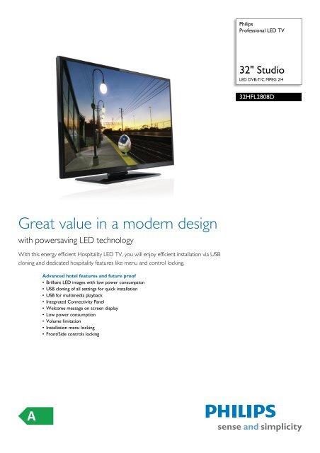 32HFL2808D/12 Philips Professional LED TV - Icecat.biz