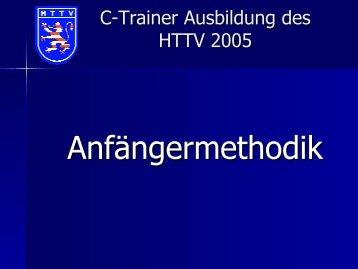 HTTV-Lehrwesen - Anfaengermethodik