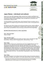 Japan Reisen - individuell und exklusiv - Asien Special Tours