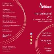 martini abend - Stadt Ettenheim