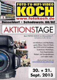 20. + 21. Sept. 2013 - Hifi & Foto Koch GmbH