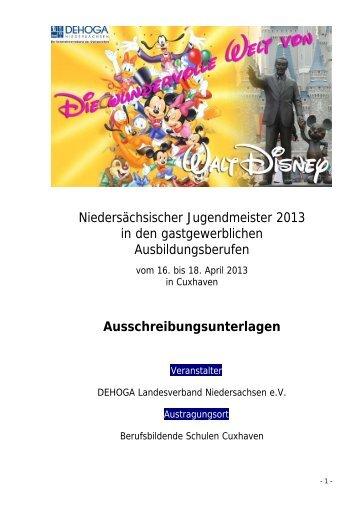 Niedersächsischer Jugendmeister 2013 in den gastgewerblichen ...