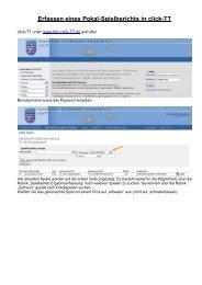 Erfassen eines Pokal-Spielberichts in click-TT