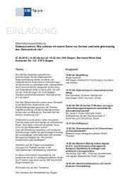 07.09.2010 / Informationsveranstaltung Datensicherheit - bmd Gmbh