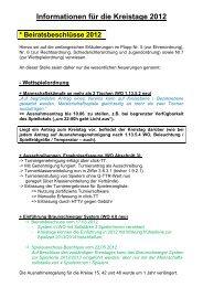 Informationen für die Kreistage 2008