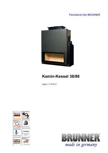 Kamin-Kessel 38/86 made in germany - Brunner