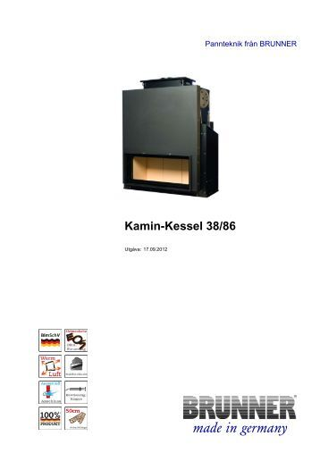 Kamin-Kessel 38/86 made in germany - Brunner