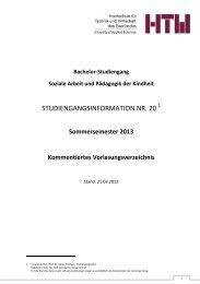 Stand: 21.03.2013 - an der Hochschule für Technik und Wirtschaft ...