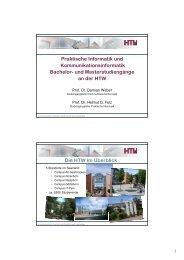 Bachelor Praktische Informatik - an der Hochschule für Technik und ...