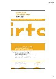 ABB11_2013_T01_Organisatorisches und IT-Informationen für ...