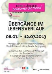 Broschüre summerschool .pdf - an der Hochschule für Technik und ...