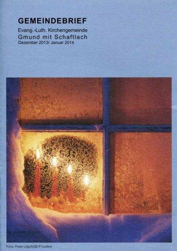 Gemeindebrief Dezember 2013/Januar 2014 - Evangelische ...