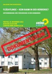 1312-Fluechtlinge - Bündnis 90/Die Grünen im Landtag NRW