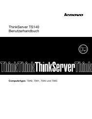ThinkServer TS140 Benutzerhandbuch - Lenovo