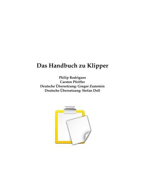 Das Handbuch zu Klipper - KDE Documentation