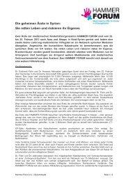 Hammer Forum - Aktion Deutschland Hilft