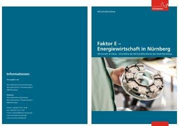 Standortinformation:Faktor E - Energiewirtschaft in ... - Stadt Nürnberg