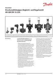 Druckunabhängiges Abgleich- und Regelventil AB-QM ... - Danfoss