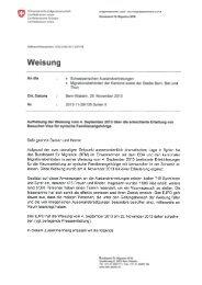 Weisung: Aufhebung der Weisung vom 4 September 2013 über die ...