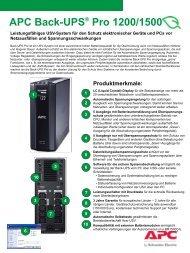 APC Back-UPS® Pro 1200/1500 - ARP