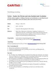 Programm - CARITAS - Schweiz