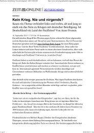 Pazifismus - Evangelische Akademie Thüringen