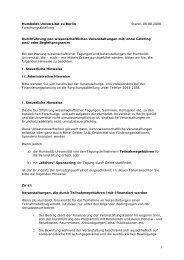 Wissenschaftliche Veranstaltungen mit/ohne Catering - Humboldt ...