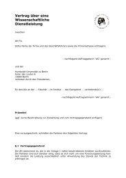 Vertrag über eine Wissenschaftliche Dienstleistung - HU Berlin