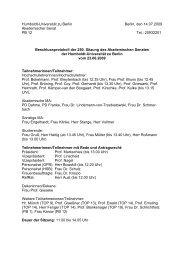 Protokoll des AS - Humboldt-Universität zu Berlin