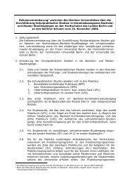 Rahmenvereinbarung - GK 2.5.07 - Humboldt-Universität zu Berlin