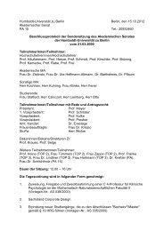 Protokoll des AS - HU Berlin