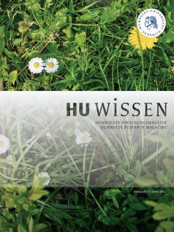 hu wissen 5 (pdf) - Humboldt-Universität zu Berlin