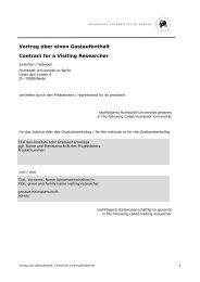 Mustervertrag - Humboldt-Universität zu Berlin