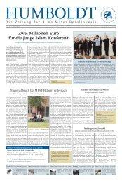 Zwei Millionen Euro für die Junge Islam Konferenz - Humboldt ...