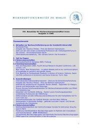 XVI. Newsletter für Nachwuchswissenschaftler/innen Ausgabe: 2 ...