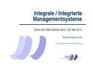Integrale / Integrierte Managementsysteme - SAQ