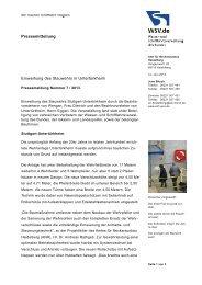 Einweihung des Stauwehrs in Stuttgart-Untertürkheim. - WSV