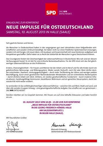 neue Impulse für Ostdeutschland - SPD