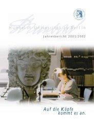 Jahresbericht 2001/2002 - Humboldt-Universität zu Berlin