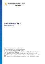 User Manual - TuneUp Software GmbH