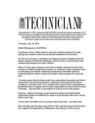 Thursday, July 18, 2013 Kaitlin Montgomery, Staff Writer A professor ...