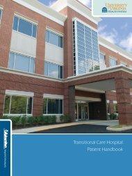 Transitional Care Hospital Patient Handbook - University of Virginia ...