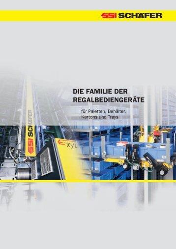 DIE FAMILIE DER REGALBEDIENGERÄTE - SSI Schäfer