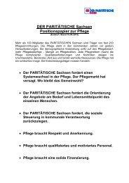 Positionspapier Pflege Stand 15.08.2013 - Parisax.de